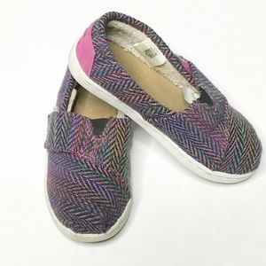 TOMS Slip-on Shoes Girls Size 10Y Pink Purple